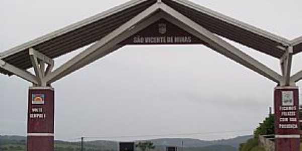 São Vicente de Minas-MG-Pórtico de entrada da cidade-Foto:Josue Marinho