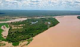 Barra - Barra-BA-Vista aérea do Rio São Francisco-Foto:Emerson Alta Imagem