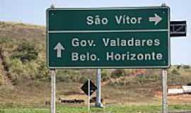 São Vítor - Trevo de acesso de São Vítor-MG-Foto:montanha