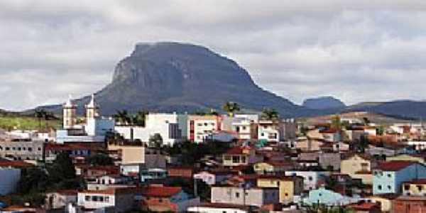 Barra da Estiva-BA-Vista da cidade e o Morro do Ouro-Foto:Wilker Porto