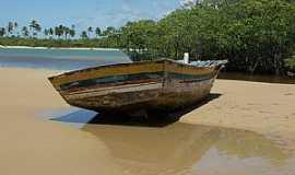Barra do Jacuípe - Barra do Jacuipe-BA-Barco de pesca no rio Jacuípe-Foto:Peterson Cunha