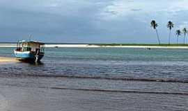 Barra do Jacuípe - Barra do Jacuipe-BA-Encontro do rio com o mar-Foto:Raul Di Lollo