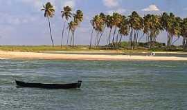 Barra do Jacuípe - Barra do Jacuipe-BA-O rio e o mar-Foto:cregional.com.br