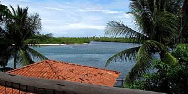 Barra do Jacuipe-BA-Vista do Rio Jacuípe-Foto:Raul Di Lollo