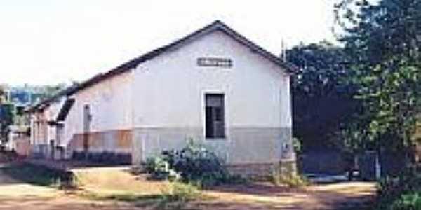 Estação Ferroviária de Silvestre em 2001-Foto:estacoesferroviarias.