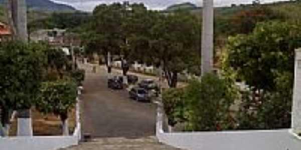 Vista da praça à partir da escadaria da Igreja em Sobral Pinto-Foto:Raymundo P Netto