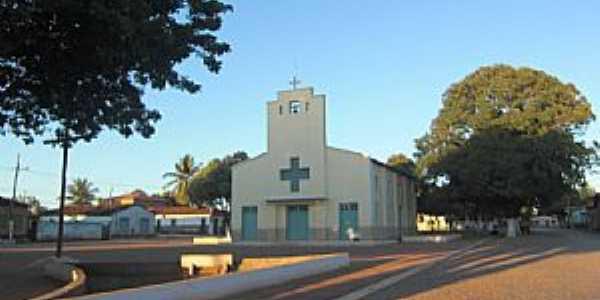 Tejuco-MG-Praça e Igreja de Santa Luzia-Foto:Rômulo Henok
