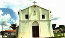 Tr�s Marias - Igreja em Vila Sat�lite,Distrito de Tr�s Marias-Foto:Luiz Gonzaga de Siqu�