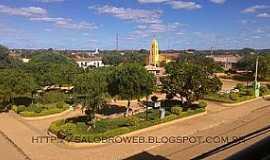 Barro Alto - Barro Alto-BA-Pracinha principal no Distrito de Lagoa Funda-Foto:salobroweb.blogspot