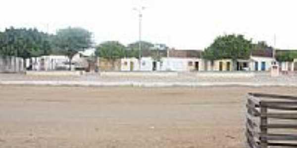 Praça e casario de Barro Vermelho-BA-Foto:Ewerton Matos