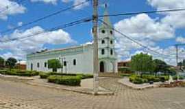 Vargem Grande do Rio Pardo - Praça e Igreja Matriz de Vargem Grande do Rio Pardo-Foto:ArmandoFS