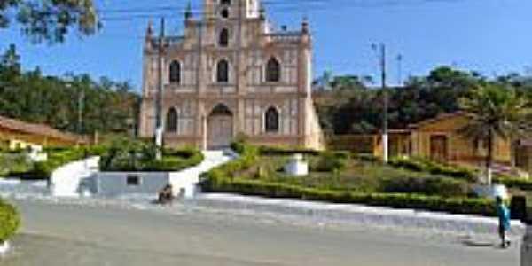 Praça e Igreja de Santo Antônio em Vargem Linda-Foto:zedavargem@hotmail.c...