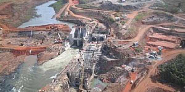 Alto Sucuriú-MS-Construção da Barragem-Foto:Ademar - Triunfo