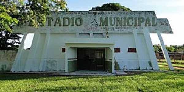 Anaurilândia-MS-Entrada do Estádio de Futebol Lázaro Severino da Silva-Foto:Idelfonso Alves