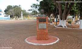 Bandeirantes - Bandeirantes-MS-Busto na Praça Joaquim Pedro Gomes-Foto:Sergio Falcetti