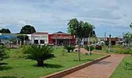 Brasilândia - Vista parcial da Praça Central de Brasilândia-Foto:anfene