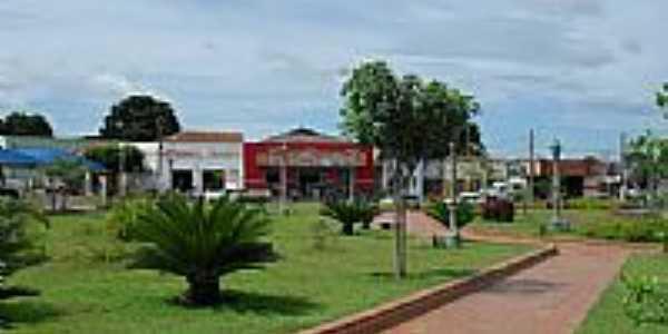 Vista parcial da Praça Central de Brasilândia-Foto:anfene