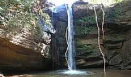 Camapuã - Cachoeira no Rio Mata-Mata em Camapuã-Foto:carnelos1