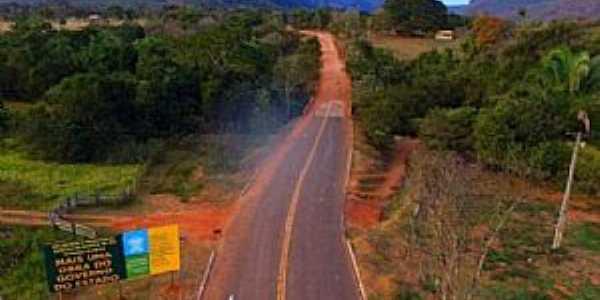 Camisão-MS-Estrada sendo pavimentada-Foto:Chico Ribeiro