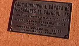 Caracol - Placa - Prefeitura