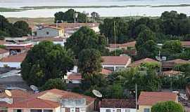 Bem-Bom - Bem Bom-BA-Vista parcial da cidade com o rio ao fundo-Foto:Gildesio Barbosa