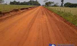 Indaiá do Sul - Indaiá do Sul-MS-Estrada sendo pavimentada-Foto:www.itaquirai.ms.