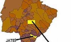 Jateí - Mapa de Localização Jateí-MS
