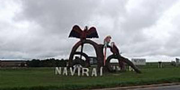 Monumento na entrada da cidade de Naviraí-MS-Foto:José Carminatti