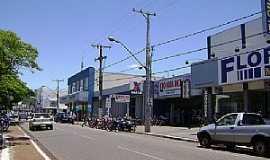 Nova Andradina - Centro de Nova Andradina visto a partir da avenida Antonio Joaquim de Moura Andrade