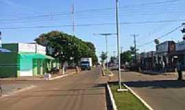 Novo Horizonte do Sul - Avenida principal de Novo Horizonte do Sul-Foto:Antonio B. de Souza
