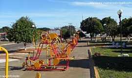 Novo Horizonte do Sul - Novo Horizonte do Sul-MS-Academia na Praça central-Foto:Sergio Falcetti