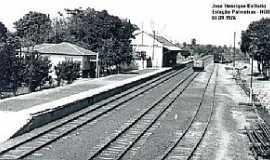 Palmeiras - Palmeiras-MS-Estação Ferroviária em 1976-Foto:J. H. Bellorio