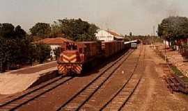 Palmeiras - Palmeiras-MS-Estação Ferroviária em 1986-Foto:J. H. Bellorio