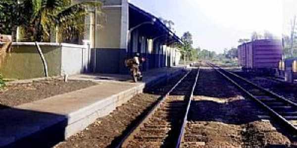 Palmeiras-MS-Estação Ferroviária em 2010-Foto:J. H. Bellorio