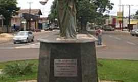 Ponta Porã - Homenagem à São José na rotatória da Av.Brasil com Av.Pres. Vargas-Foto:Paulo Yuji Takarada
