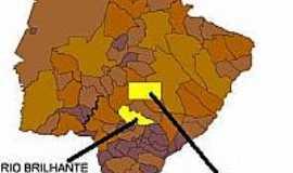 Rio Brilhante - Mapa de Localiza��o - Rio Brilhante-MS