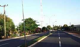 São Pedro - São Pedro-MS-Avenida de entrada agora Pavimentada-Foto:Odilon Carlos