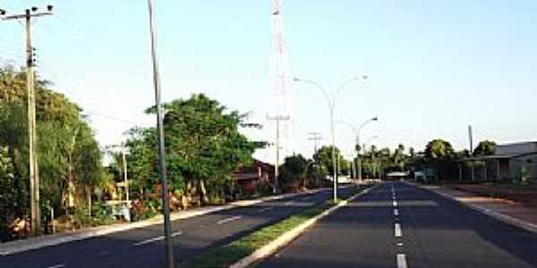 São Pedro-MS-Avenida de entrada agora Pavimentada-Foto:Odilon Carlos