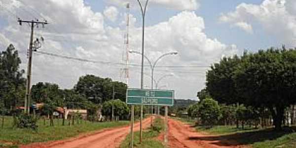 São Pedro-MS-Entrada do Distrito antes da Pavimentação-Foto:Cimicidio