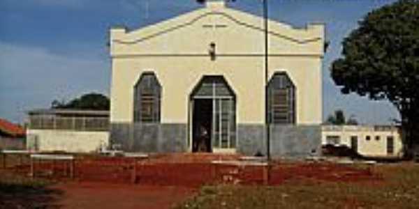 Selvíria-MS-Igreja de São João Batista-em reforma-Foto:Sergio Falcetti