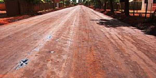 Vila Marques-MS-Rua da cidade-Foto:www.aralmoreiranews.com.br