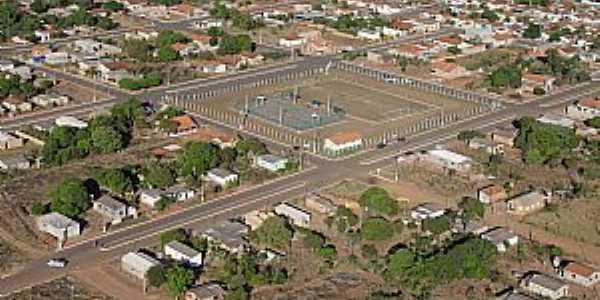 Alto Garças-MT-Vista aérea do Complexo Poliesportivo Dianary Ribeiro-Foto:Danilo Ribeiro