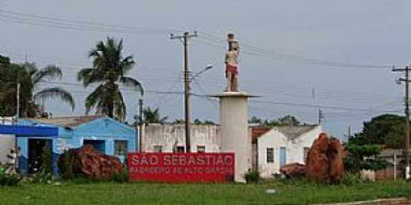 Alto Garças-MT-Imagem de São Sebastião na entrada sul-Foto:Danilo Ribeiro