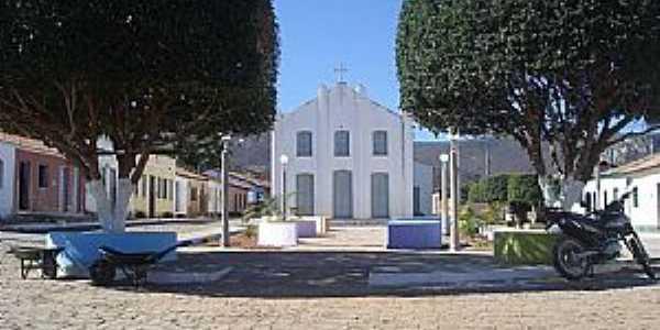 Bom Sossego-BA-Praça e Igreja Matriz-Foto:Flaviano Silva