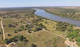 Araguaiana - Araguaiana-MT-Vista aérea do Rio Araguaia e região-Foto: Enock Macedo