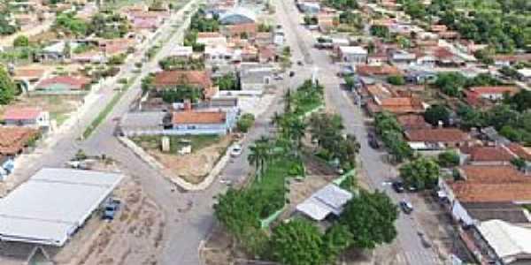 Araguaiana-MT-Vista aérea do centro-Foto:Walmor Barros