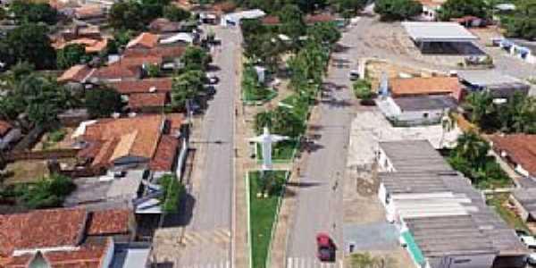 Araguaiana-MT-Vista do centro da cidade-Foto:Walmor Barros