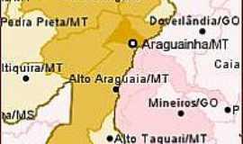 Araguainha - Mapa de Localização