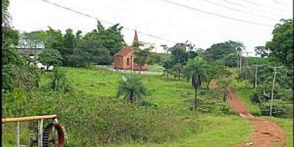 Buriti-MT-Roda D´Água e Igreja do Colégio Evangélico-Foto:Nélio Oliveira