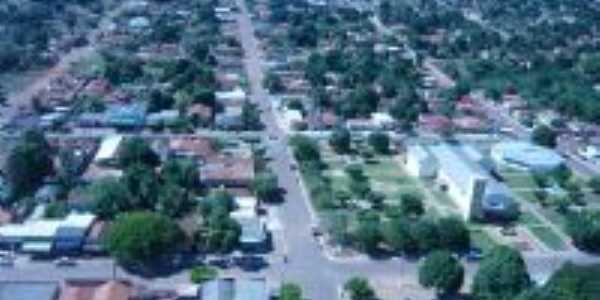 Vista panorâmica da cidade de CAMPINÁPOLIS-MT, Por Noélia Maria de Andrade